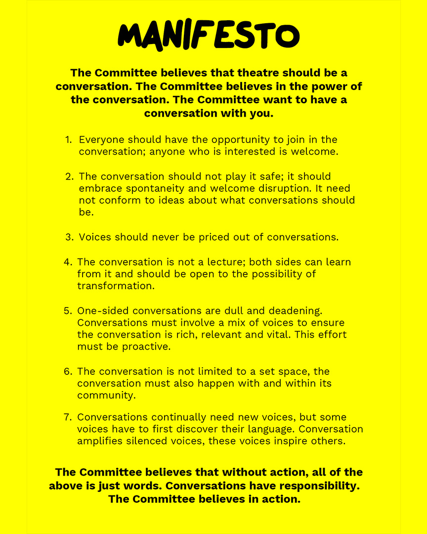 The Committee's Manifesto – The Yard Theatre
