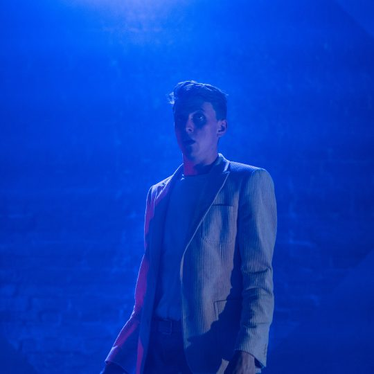 A NEW AND BETTER YOU by Joe Harbot ; Directed by Cheryl Gallacher ; Set Design by Bethany Wells ; Lighting design by Jess Bernberg ; The Yard Theatre ; London UK ; 26 June 2018 ; Credit and Copyright: Helen Murray ;