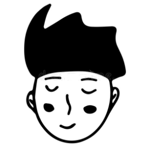 Black and White drawing of a young face