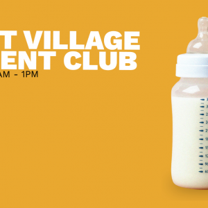East Village Parent Club In Writing + logo